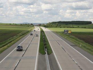Opravovaný úsek dálnice D2