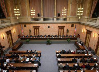Ústavní soud sídlící v budově Moravské sněmovny, ilustrační foto