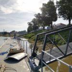 Bezpečí návštěvníků Baťova kanálu zvýší nové molo pro záchranáře v Uherském Hradišti