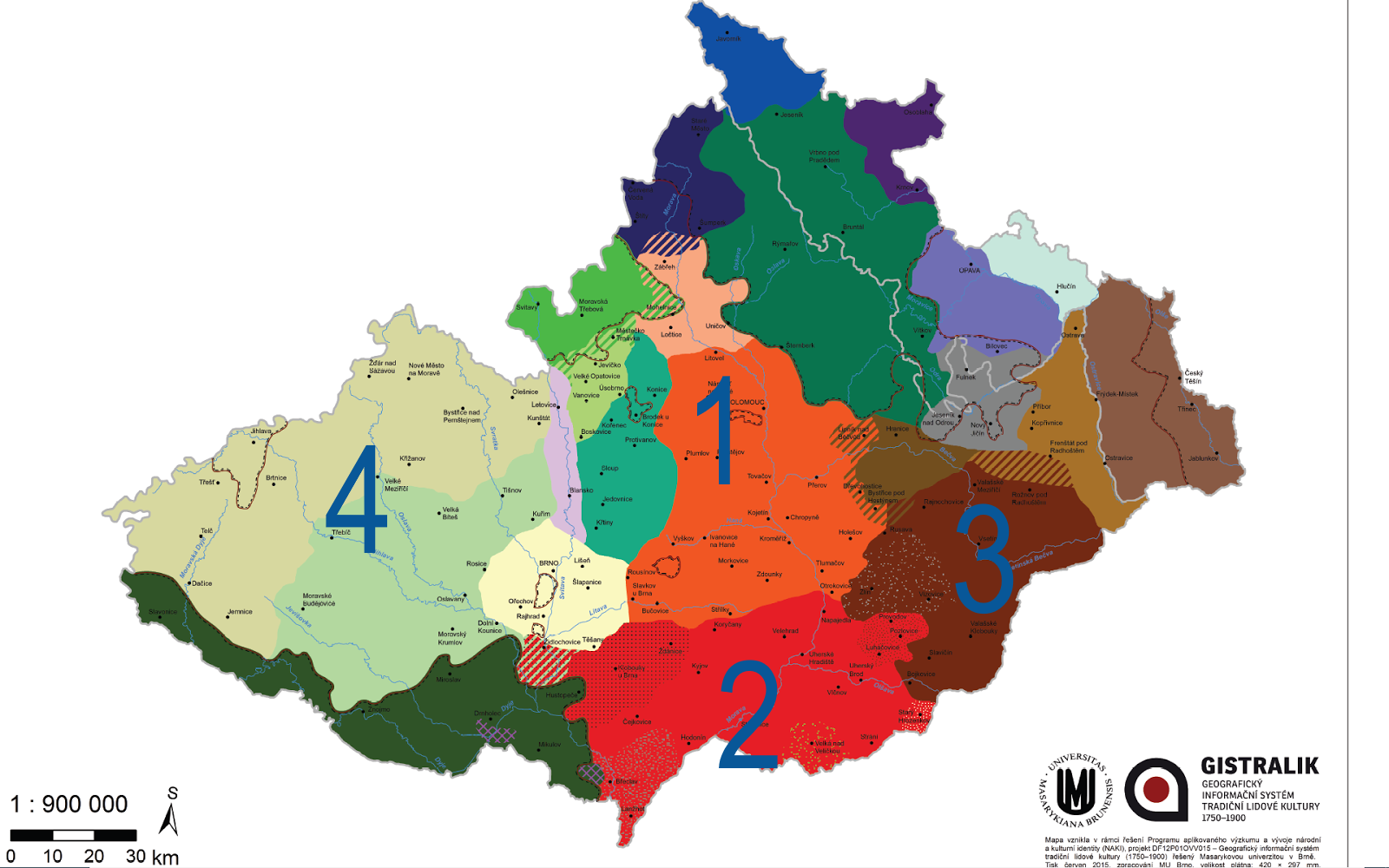 Etnografická mapa Moravy a Slezska