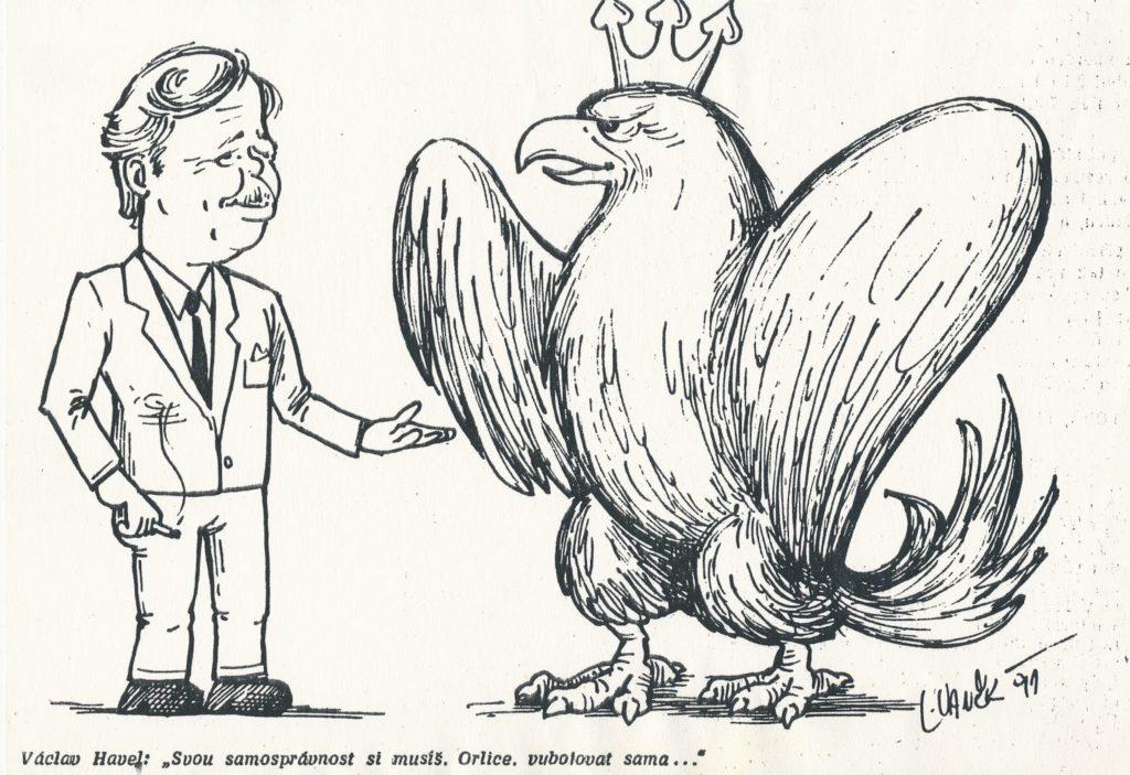 Karikatura z dílny moravských patriotů