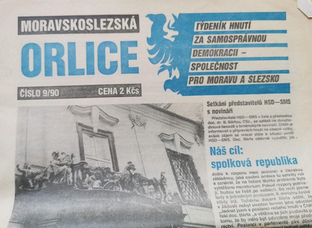 Moravskoslezská orlice noviny