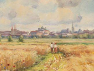Fráňa Šén Pohled na Olomouc obraz krajina
