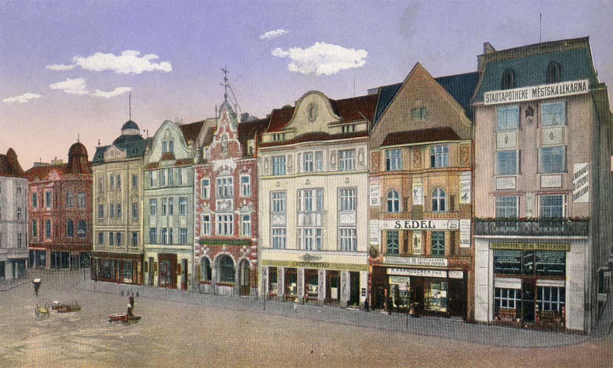 Ostrava historie kresba