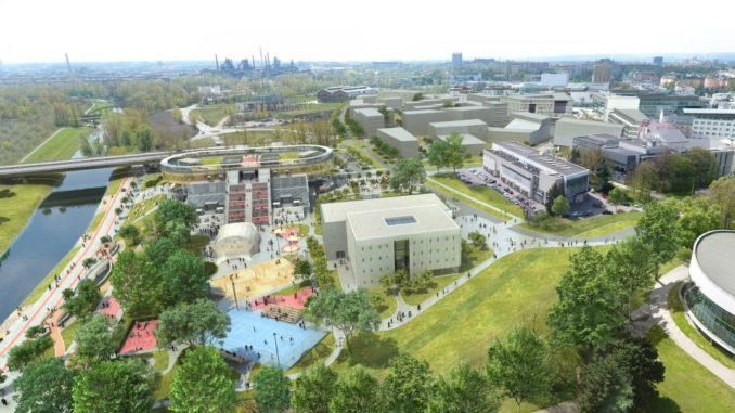 Ostravská univerzita nový areál Černá louka