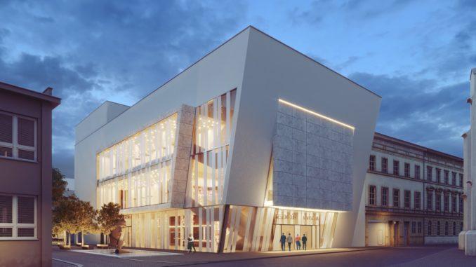 Vizualizace nového kulturního centra ve Vyškově