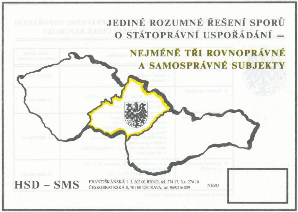 Plakát HSD-SMS s mapkou trojfederace