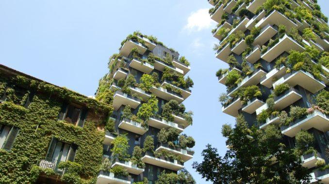 Zahradní mrakodrap v Miláně - ilustrační snímek