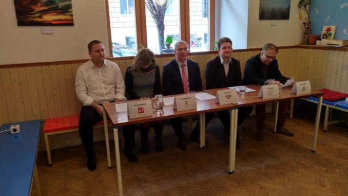 Zástupci koalice Spolu pro Moravu