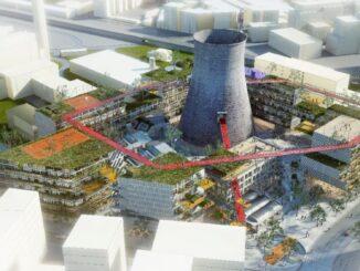 vizualizace město