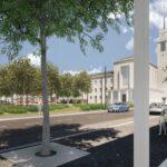 Kolonáda, stromořadí, polyfunkční dům. Brno zná novou podobu náměstí Míru